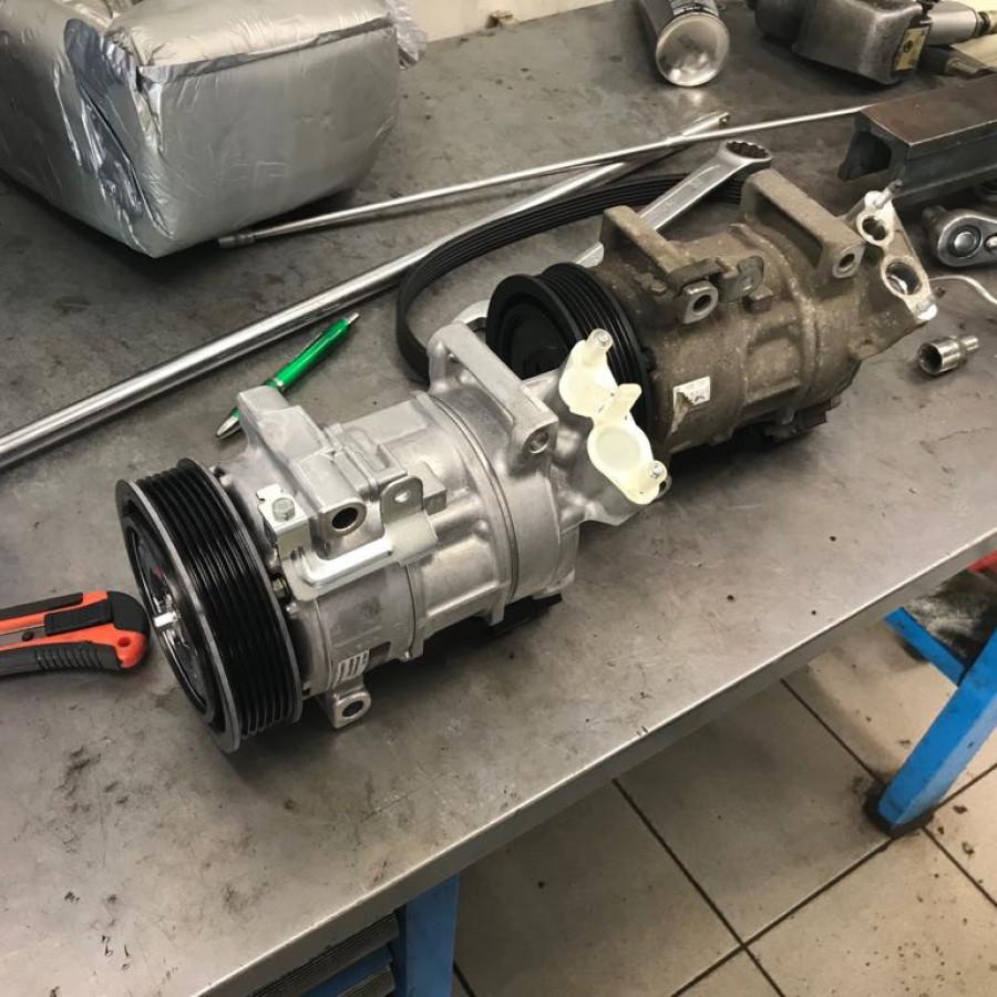 Замена компрессора кондиционера